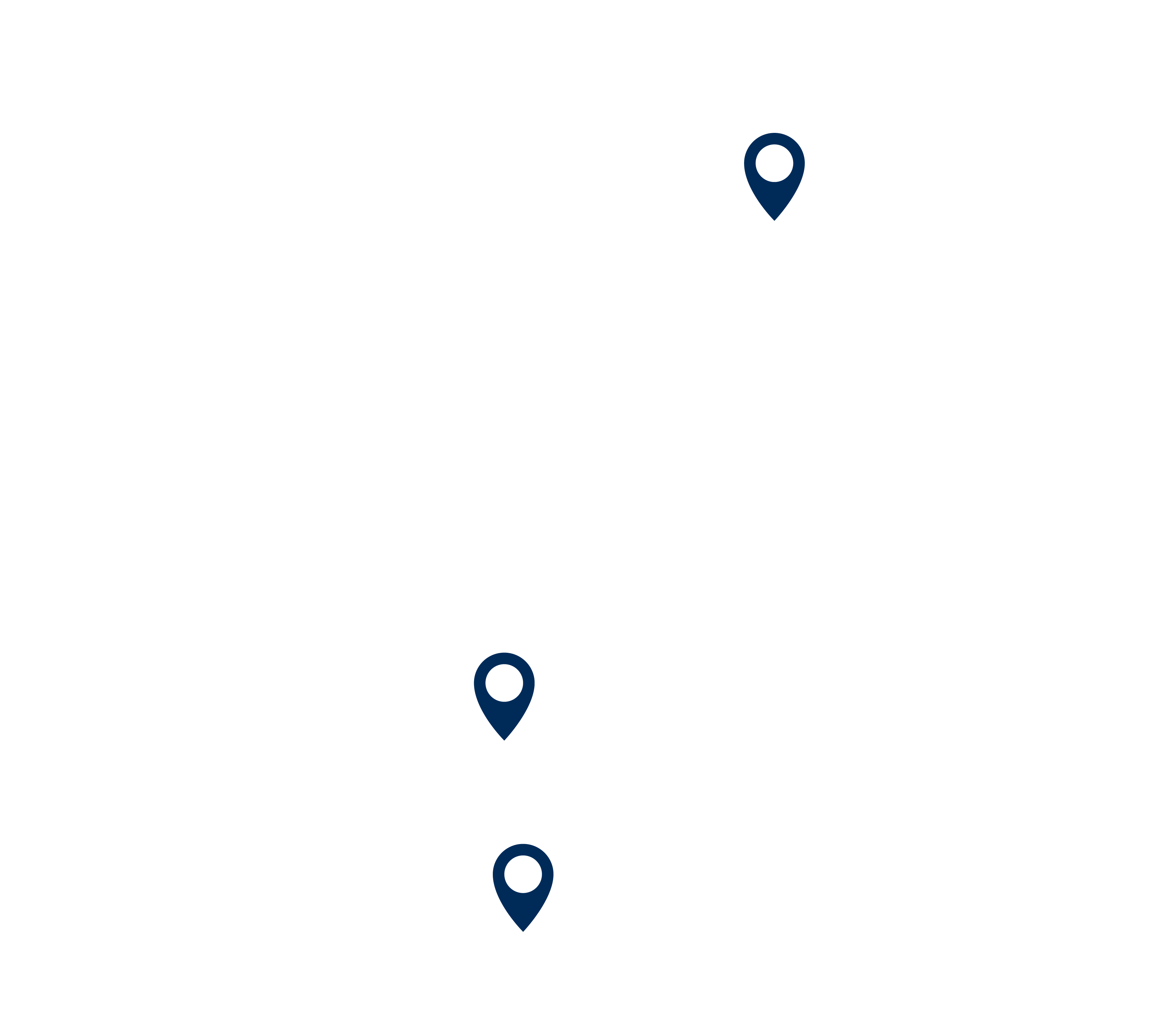 United States and Mexico map