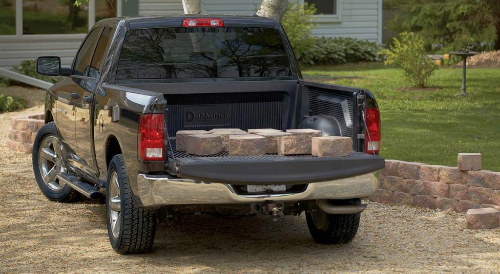 duraliner with bricks on top