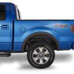 Wheel well in a pickup truck