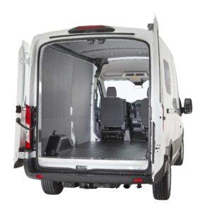 Vangaurd in the back of a van