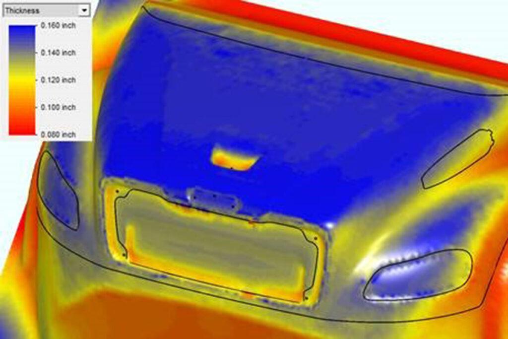 heat map of car hood