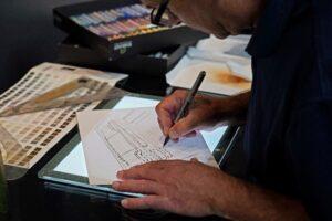 designer drafting an image